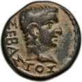Ancients:Roman Provincial , Ancients: PHRYGIA. Philomelium. Tiberius (AD 14-37). AEhemiassarion (17mm, 5.26 gm). Choice VF....