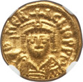 Ancients:Byzantine, Ancients: Heraclius (AD 610-641). AV solidus (4.48 gm). NGC AU 4/5- 4/5. ...