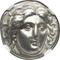 Ancients:Greek, Ancients: CARIAN ISLANDS. Rhodes. Ca. 304-275 BC. AR didrachm (6.69gm). NGC Choice XF 5/5 - 3/5....