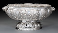 Silver Holloware, American:Bowls, An American Silver Reticulated Centerpiece Bowl, early 20thcentury. Marks: STERLING. 7-1/4 h x 15-1/2 w x 8 d inches(1...