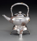 Silver & Vertu:Hollowware, An American Japanesque Silver and Mixed Metal Hot Water Kettle on Stand Attributed to Dominick & Haff, circa 1880-1885. Mark... (Total: 3 )