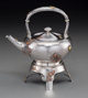 An American Japanesque Silver and Mixed Metal Hot Water Kettle on Stand Attributed to Dominick & Haff, circa 188...