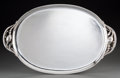 Silver Holloware, American:Trays, A Georg Jensen Silver Blossom Pattern Oval Serving Tray,designed 1919, circa 1930. Marks: 925.S, GEORGE JENSE...