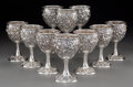 Silver Holloware, American:Cups, A Group of Ten S. Kirk & Son Inc. Silver Floral RepousséGoblets, Baltimore, Maryland. Marks: S. KIRK & SON,STERLING, (... (Total: 10 Items)