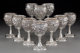 A Group of Ten S. Kirk & Son Inc. Silver Floral Repoussé Goblets, Baltimore, Maryland Marks: S. KIRK &amp...