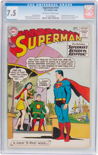 Superman #141 (DC, 1960) CGC VF- 7.5 Off-white to white pages