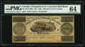 Canadian Currency: , Montreal, LC- Champlain & St. Lawrence Rail Road 2s6d/3Francs/1 Ecu/Half a Dollar Aug. 1, 1837 Remainder. ...