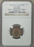 Civil War Patriotics, Six-Piece Lot of Civil War Patriotic Tokens NGC. The lot includes:1863 Army & Navy MS63 Brown NGC, Fuld-168/311a, R.1; ...(Total: 6 tokens)
