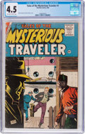 Silver Age (1956-1969):Mystery, Tales of the Mysterious Traveler #1 (Charlton, 1956) CGC VG+ 4.5Off-white to white pages....
