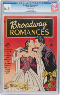 Broadway Romances #1 (Quality, 1950) CGC FN+ 6.5 Off-white pages