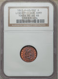 Civil War Patriotics, Three-Piece Lot of Civil War Patriotic Tokens NGC. The lotincludes: 1863 Liberty - Our Army MS66 Red and Brown NGC, Fuld-...(Total: 3 tokens)