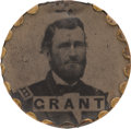 Political:Ferrotypes / Photo Badges (pre-1896), Ulysses S. Grant: Most Unusual Ferrotype Badge. ...