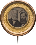 Political:Ferrotypes / Photo Badges (pre-1896), Greeley & Brown: Choice and Ornate Unlisted Ferrotype Jugate....