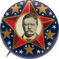 Political:Pinback Buttons (1896-present), Theodore Roosevelt: Rare and Colorful 1912 Picture Pin. ...