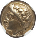 Ancients:Greek, Ancients: IONIA. Phocaea. Ca. 387-326 BC. EL sixth stater or hecte(11mm, 2.55 gm). NGC Choice XF 5/5 - 5/5....
