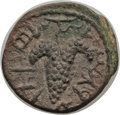 Ancients:Judaea, Ancients: JUDAEA. Bar Kokhba Revolt (AD 132-135). Æ small bronze (4.91 gm). Choice XF. ...