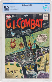 G.I. Combat #86 (DC, 1961) CBCS VF+ 8.5 Off-white pages