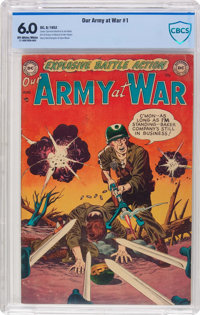 Our Army at War #1 (DC, 1952) CBCS FN 6.0 Off-white to white pages