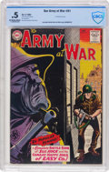 Silver Age (1956-1969):War, Our Army at War #91 (DC, 1960) CBCS PR 0.5 Off-white to white pages....