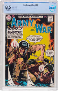 Our Army at War #95 (DC, 1960) CBCS VF+ 8.5 Off-white pages