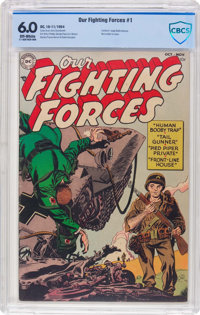 Our Fighting Forces #1 (DC, 1954) CBCS FN 6.0 Off-white pages