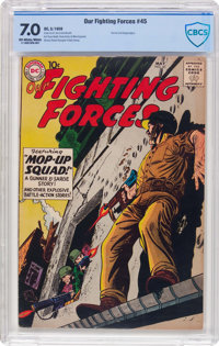 Our Fighting Forces #45 (DC, 1959) CBCS FN/VF 7.0 Off-white to white pages
