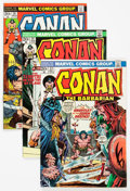 Bronze Age (1970-1979):Adventure, Conan the Barbarian Group of 49 (Marvel, 1973-75) Condition: Average VF.... (Total: 49 Comic Books)