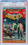 Bronze Age (1970-1979):Horror, Tomb of Dracula #1 (Marvel, 1972) CGC VF 8.0 Off-white to whitepages....