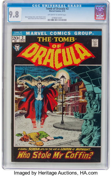 Tomb of Dracula #2 (Marvel, 1972) CGC NM/MT 9 8 Off-white to