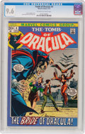 Bronze Age (1970-1979):Horror, Tomb of Dracula #4 (Marvel, 1972) CGC NM+ 9.6 Off-white to whitepages....