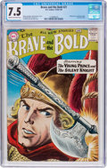Silver Age (1956-1969):Adventure, The Brave and the Bold #21 (DC, 1958) CGC VF- 7.5 Cream to off-white pages....