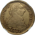 Chile, Chile: Charles IV gold 8 Escudos 1791 So-DA XF45 NGC,...