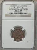 Civil War Patriotics, Five-Piece Lot of Civil War Patriotic Tokens NGC. The lot includes:1863 Peace Forever MS63 Brown NGC, Fuld-22/418a, R.3; ... (Total: 5tokens)