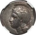 Ancients:Greek, Ancients: LUCANIA. Velia. Ca. 340-280 BC. AR stater (7.54gm). NGC Choice VF 3/5 - 4/5, Fine Style....