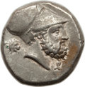 Ancients:Greek, Ancients: LUCANIA. Metapontum. Ca. 340-330 BC. AR stater ordidrachm (7.85 gm). Choice VF....