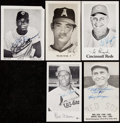 Autographs:Photos, Baseball Greats Signed Photographs/Postcards Lot of 11.. ...