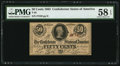 Confederate Notes:1863 Issues, T63 50 Cents 1863 PF-12 Cr. UNL.. ...