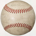 Autographs:Bats, 1934 St. Louis Cardinals Team Signed Baseball. Off...