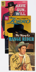 Silver Age (1956-1969):Miscellaneous, Dell Silver Age Movie and TV Westerns Comics Box Lot (Dell,1950s-60s) Condition: Average VG/FN....
