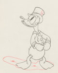 Animation Art:Production Drawing, Modern Inventions Donald Duck Animation Drawing (WaltDisney, 1937). ...