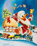 Memorabilia:Disney, Carl Barks Gifts For Shacktown Signed Limited Edition Miniature Lithograph Print #174/595 and Book (Another Rainbo... (Total: 2 Items)