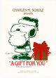 Charles Schulz A Gift For You Snoopy from Peanuts Holiday Show Poster (Empire Redwood Ice Arena, 1991)