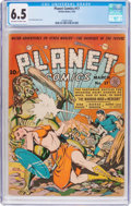 Golden Age (1938-1955):Science Fiction, Planet Comics #17 (Fiction House, 1942) CGC FN+ 6.5 Off-white towhite pages....