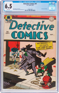Detective Comics #91 (DC, 1944) CGC FN+ 6.5 White pages