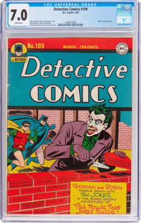 Detective Comics #109 (DC, 1946) CGC FN/VF 7.0 White pages