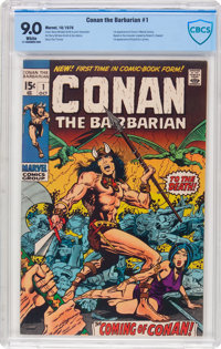 Conan the Barbarian #1 (Marvel, 1970) CBCS VF/NM 9.0 White pages