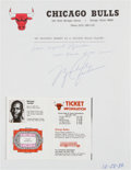 "Basketball Collectibles:Others, 1984 ""My Proudest Moment as a Chicago Bull"" Collection of 26 SignedLetters with Rookie Michael Jordan. . ..."