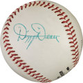 Baseball Collectibles:Balls, 1960's Dizzy Dean Single Signed Baseball, PSA NM-MT+ 8.5....