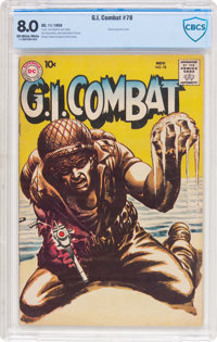 G.I. Combat #78 (DC, 1959) CBCS VF 8.0 Off-white to white pages