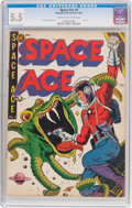 Golden Age (1938-1955):Science Fiction, Space Ace #5 (Magazine Enterprises, 1952) CGC FN- 5.5 Cream tooff-white pages....